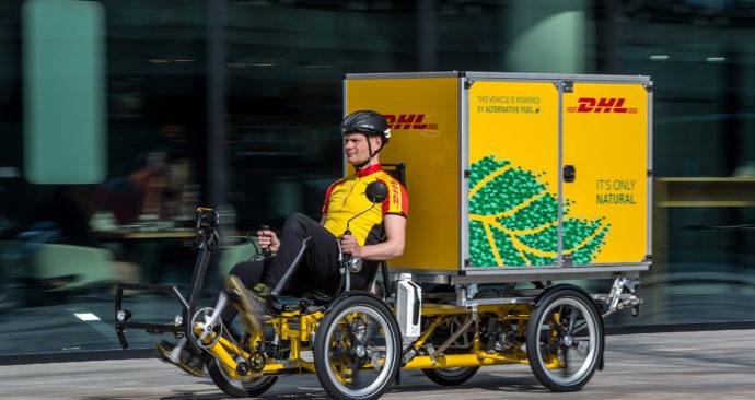 ALMERE – De nieuwe Containerbike van DHL. FOTO: DIEDERIK VAN DER LAAN