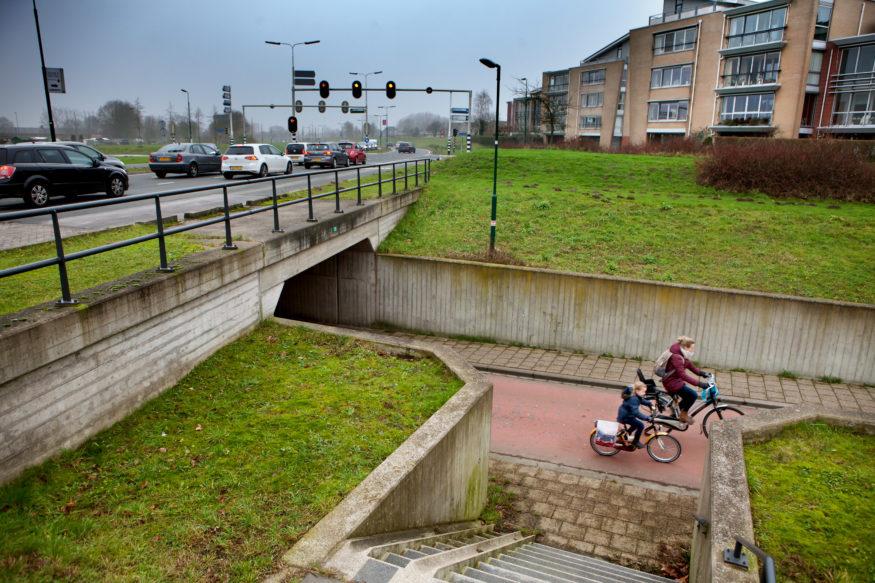 Ongelijke oversteken zijn de norm in Houten.