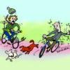 hond en fiets, fietsersbond, fiets met ABS