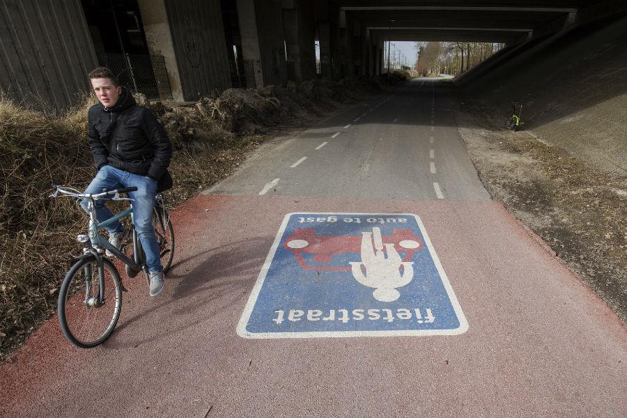 Fietspadgrens Utrecht-Bunnik