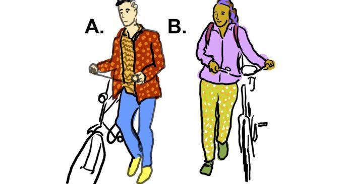 Tekening van een Linksloper (A) en een rechtsloper (B)