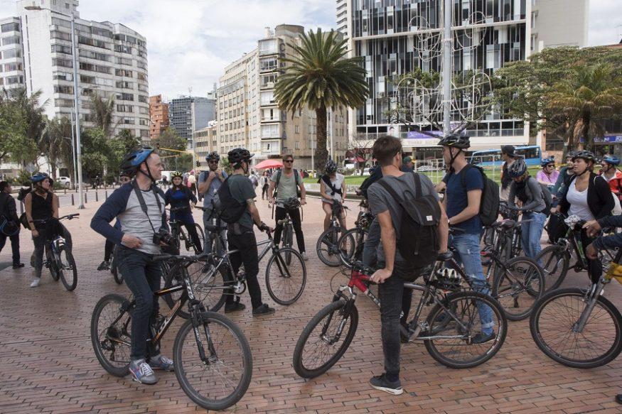 De groep in het centrum van Bogota