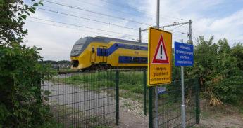 De overgang bij het Laantje van Alverna in Heemstede.