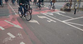 voorsorteervak voor fietsers