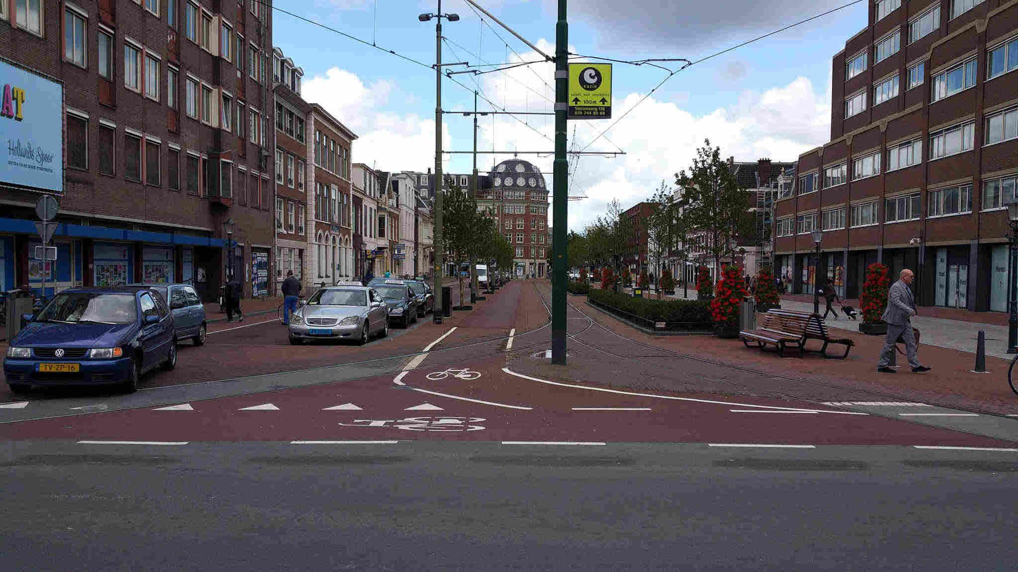 Geen linksaf vanaf het Stationsplein richting Stationsweg