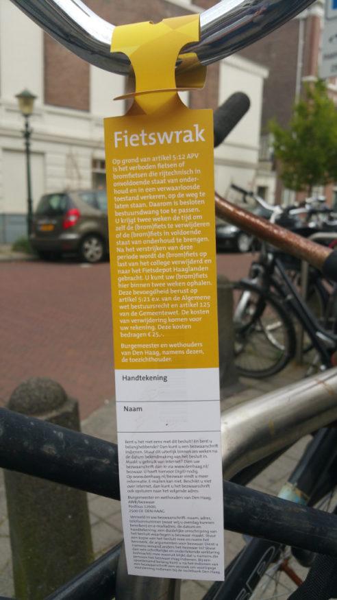 fietswraklabel