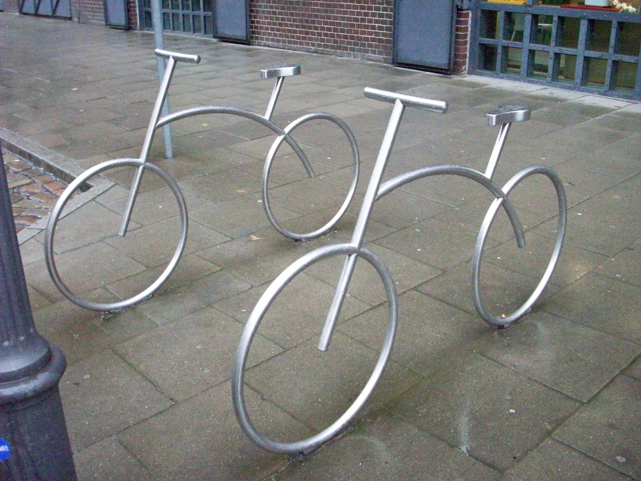 foto van een fietsenrek