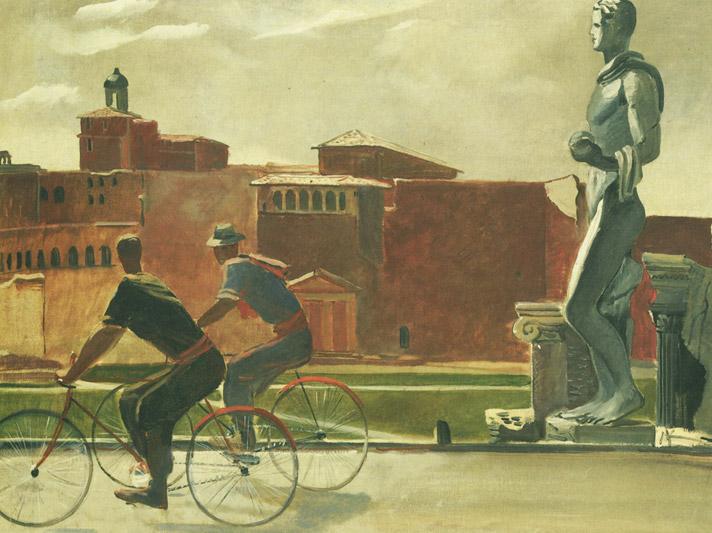Alexander Deijneka, Italiaanse arbeiders op de fiets