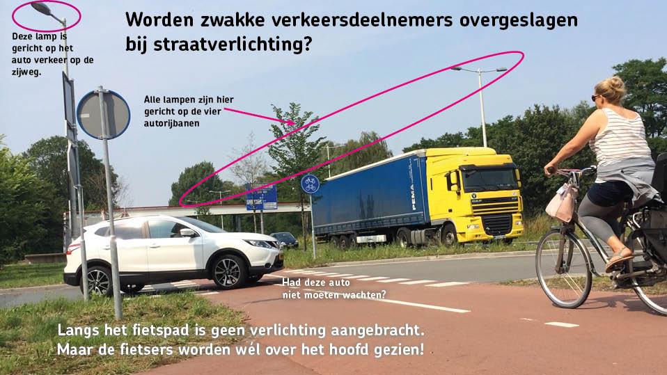Worden zwakke verkeersdeelnemers overgeslagen bij straatverlichting