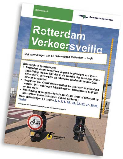 Reactie Fietsersbond op Rotterdam Verkeersveilig Meerjarenplan