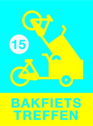 logo Bakfietstreffen 2015, bakfiets in een bakfiets
