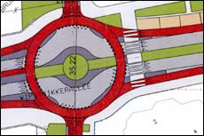 Een fietsrotonde gaat de fietsstaat Vondelkade verbinden met de Philosophenallee.