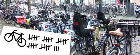 Foto fietsen in stalling