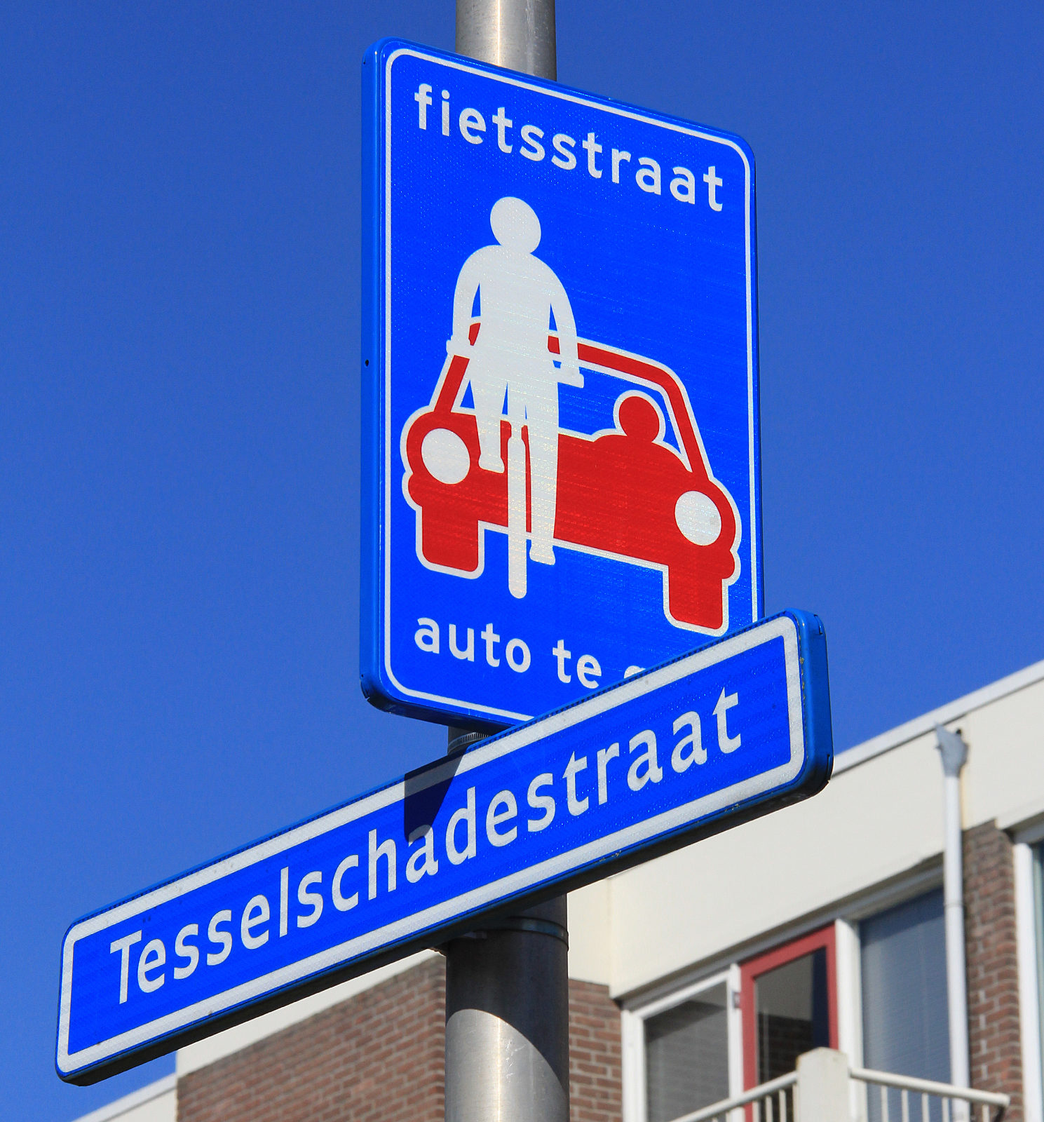 Foto: Tesselschadestraat negende fietsstraat in Zwolle