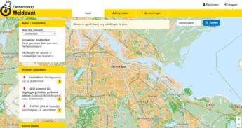 Screenshot van het Meldpunt in ontwikkeling