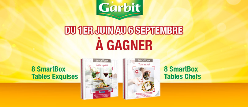 29.06 Tas Garbit 10 coffrets Smartbox DLP:6/09 Start