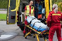 Als Rettungstuch im Rettungswagen
