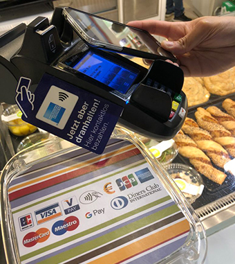 Google Pay in allen casualfood-Stores und -Restaurants