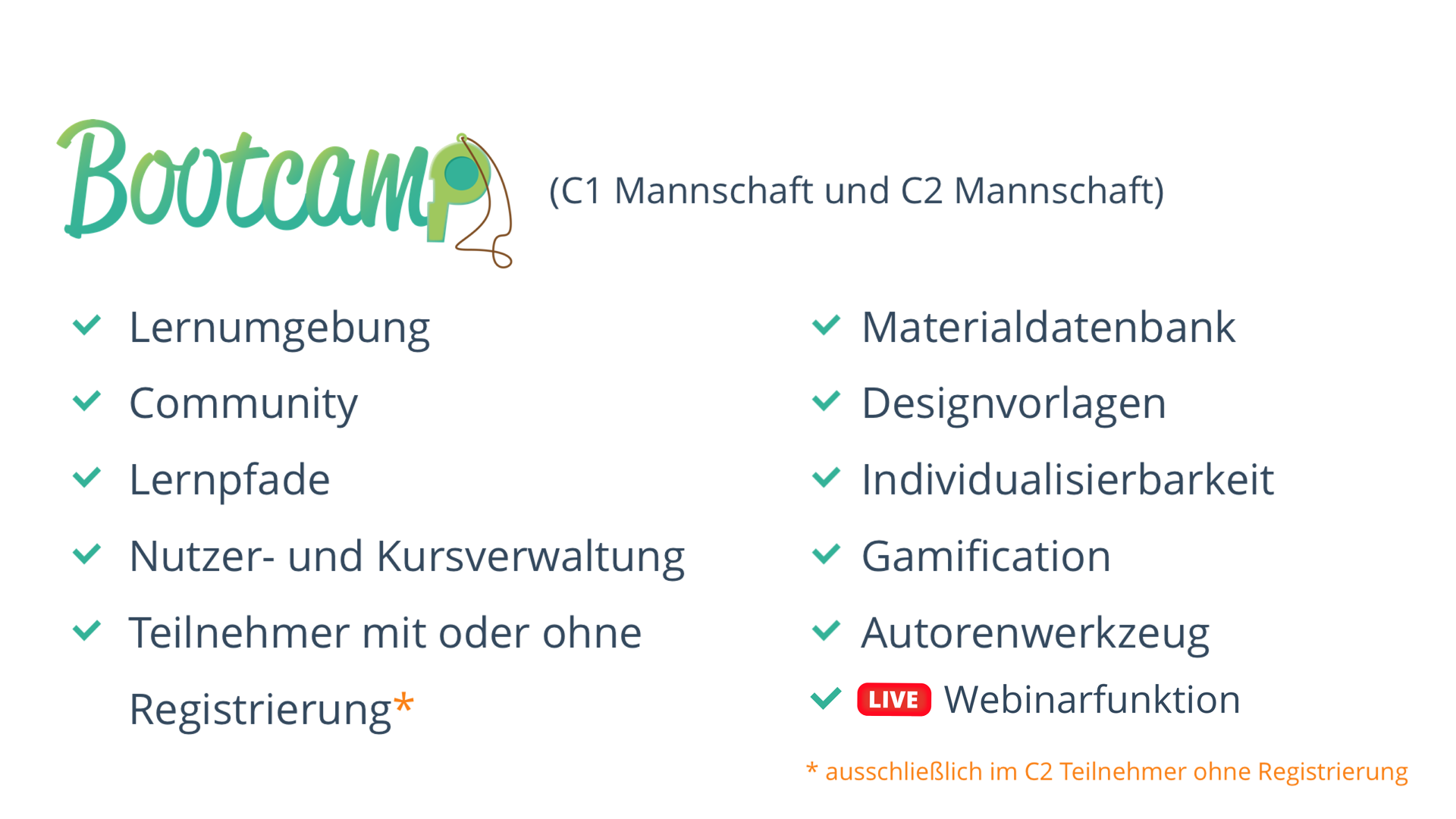 Webinarfunktion in einem Lermanagementsystem