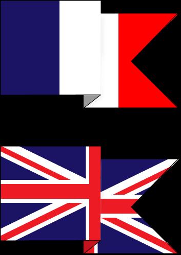 Französisch und Englisch