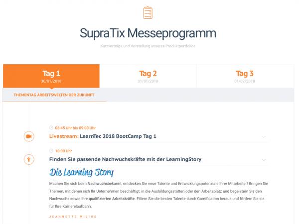 Das Messeprogramm von SupraTix