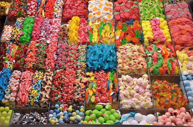 Ob farbrein oder bunt, in jedem Fall ist die Candybar ein Blickfang