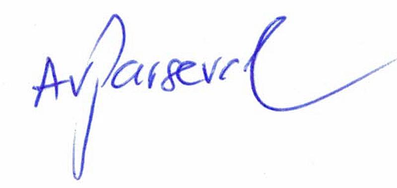 Unterschrift von Alexander von Parseval