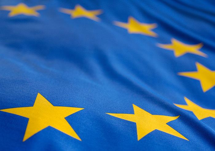 Bild der Europaflagge