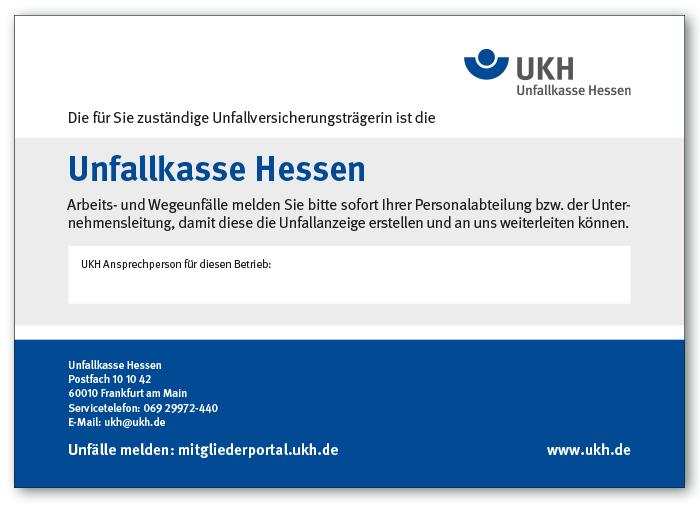 Aushang für Mitgliedsbetriebe der UKH