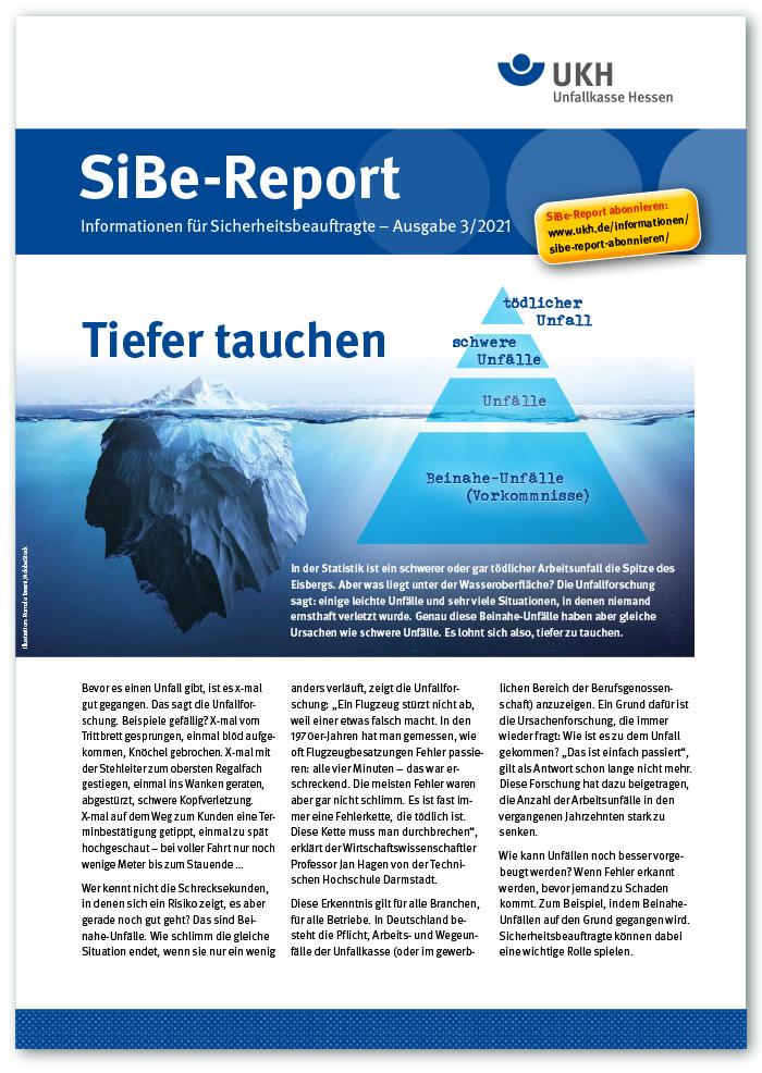SiBe-Report, Informationen für Sicherheitsbeauftragte – Ausgabe 3/2021