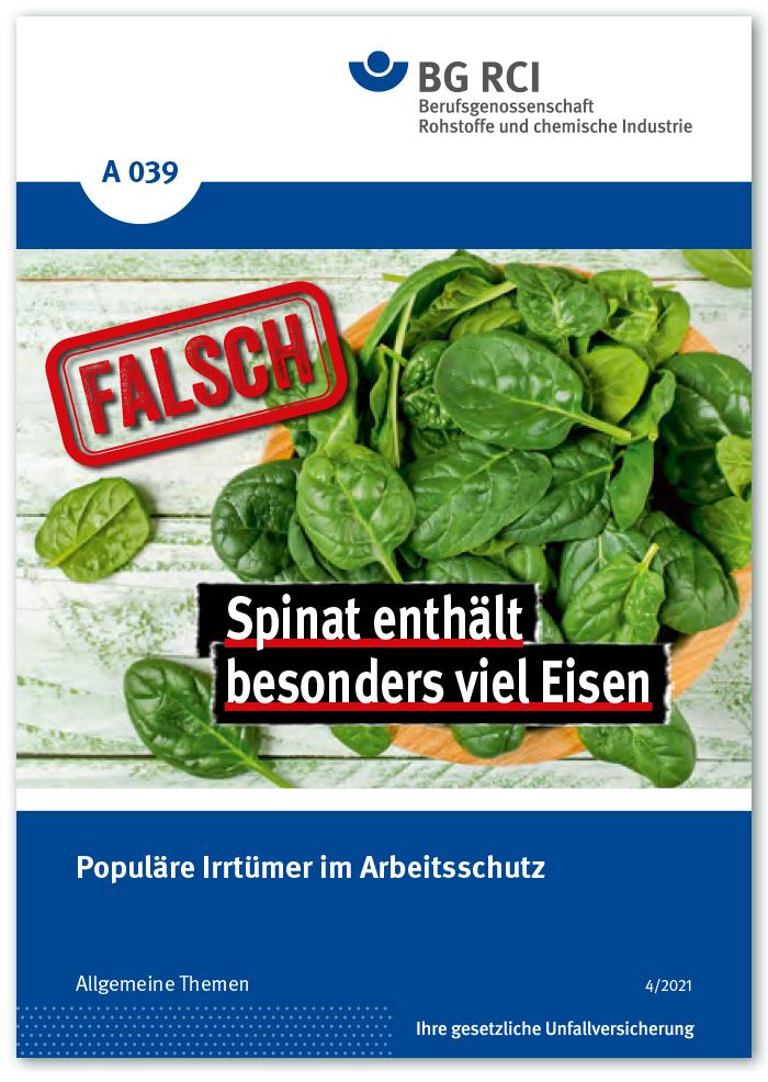 """Merkblatt """"Irrtümer im Arbeitsschutz"""""""
