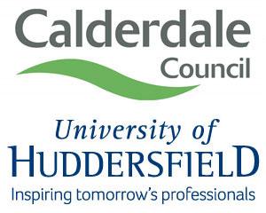 Calderdale Council and Huddersfield University logos