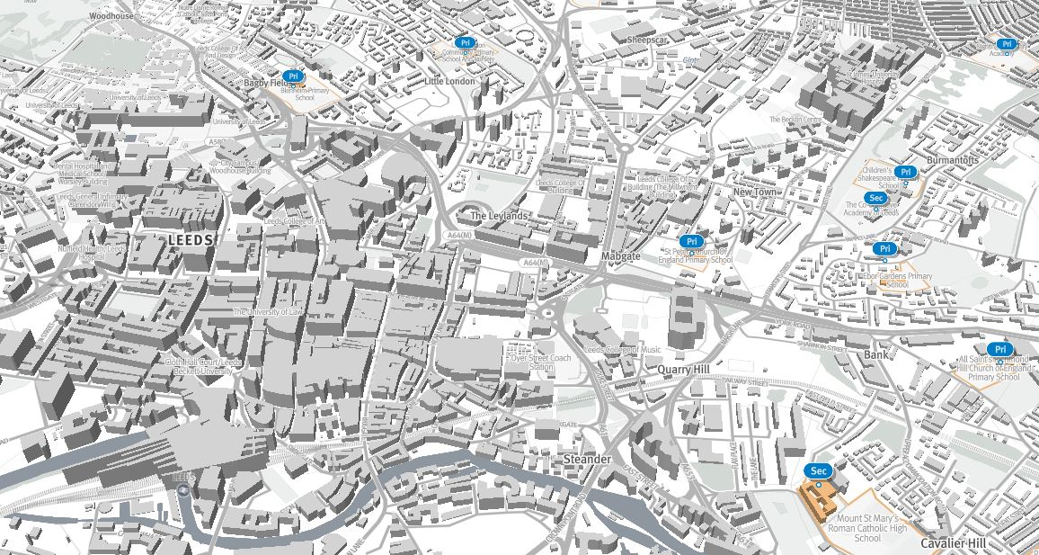 3D Maps of Leeds – Data Mill North  D Map Of In on