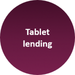 We have one of the UK's largest tablet lending schemes