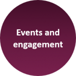 We offer events and engagement