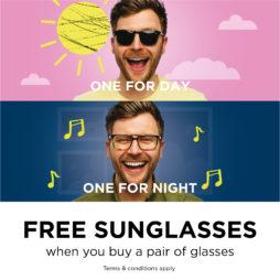 Free Sunglasses Single Thumb