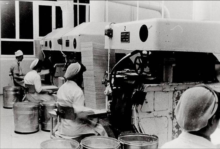 Geschichte 1950 Waffelbackautomaten