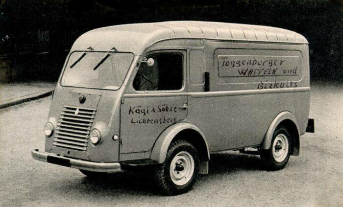 Erster Lieferwagen