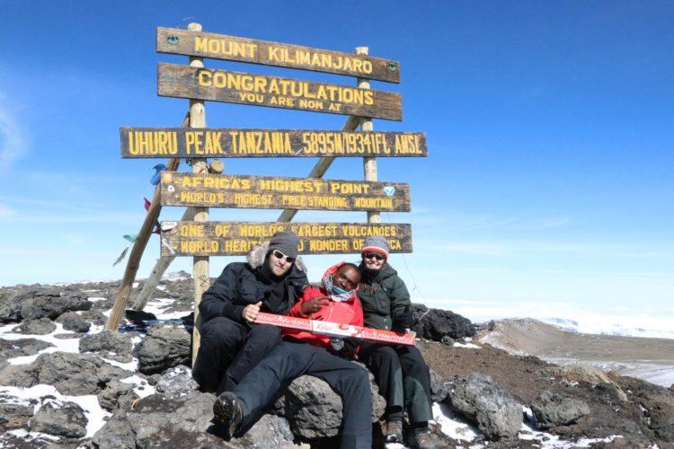 Der Kägi Glücksmeter auf dem Kilimanjaro