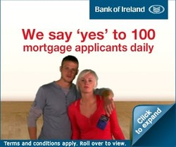 Bank of Ireland mortgage approval ad.