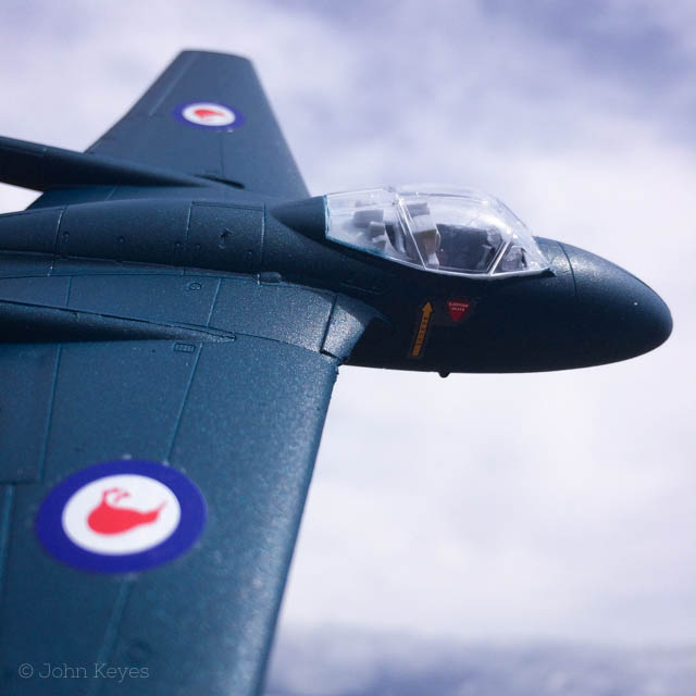 A photo of the completed kit flying