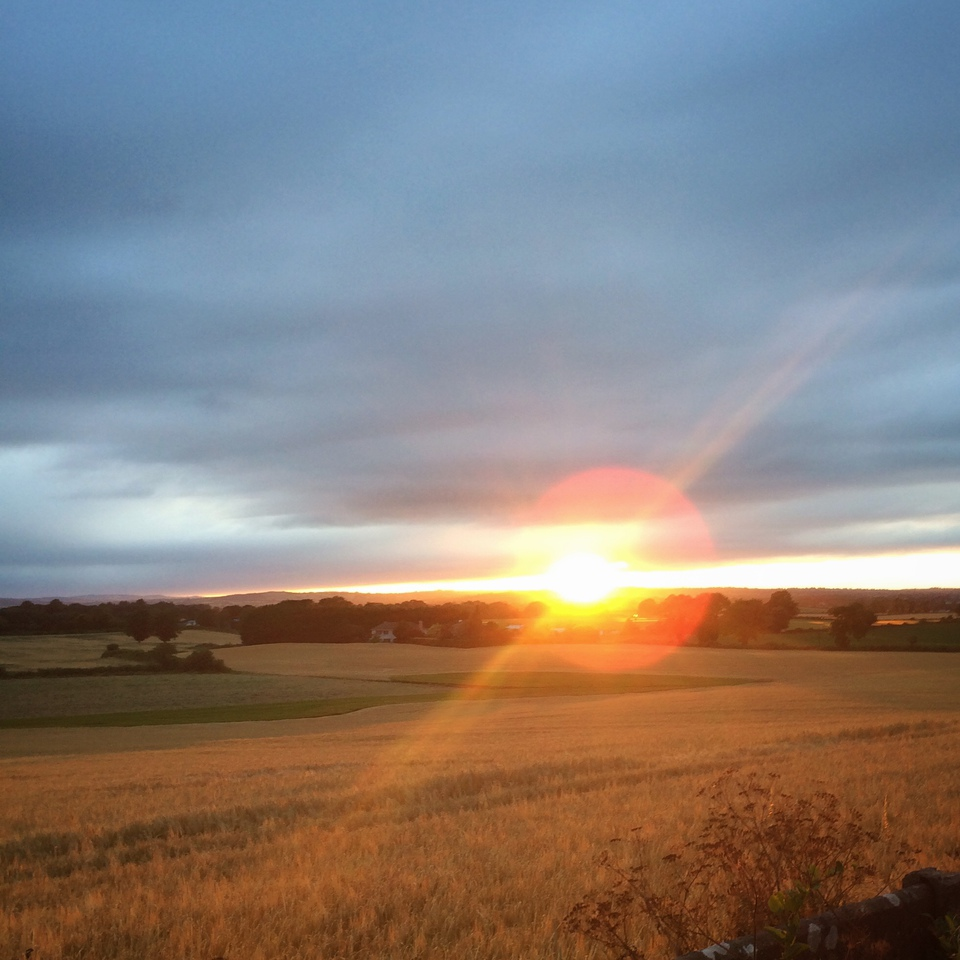The sunset as seen from Foulkstown