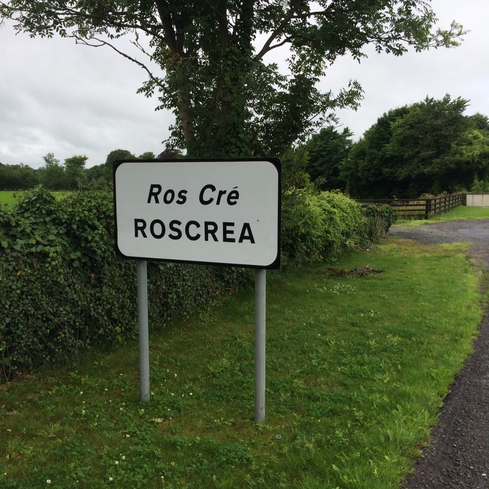 Town sign for Roscrea.