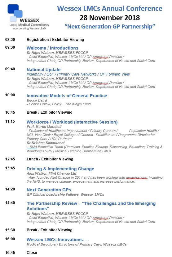 Annual Conference Agenda