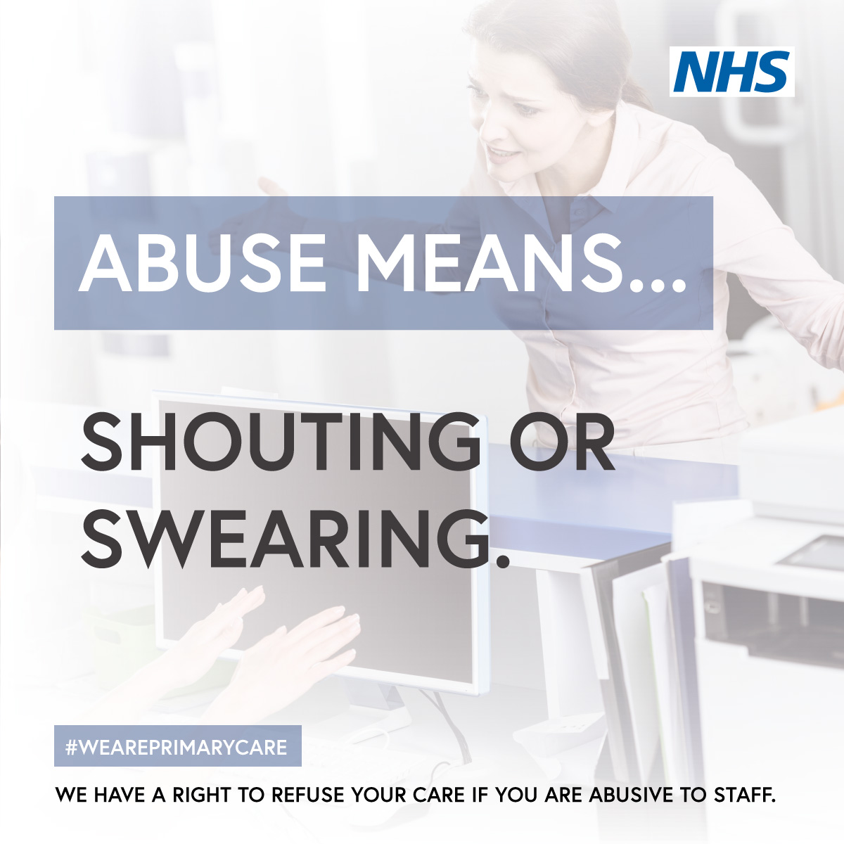 Abuse Means - Shouting or Swearing JPG