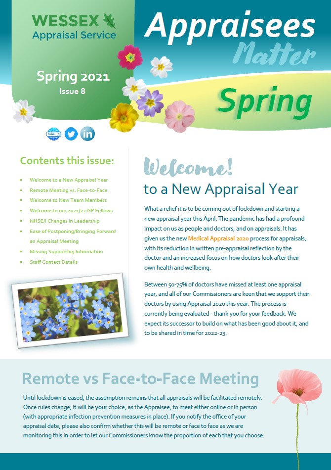 APPRAISEES MATTER Appraisee Newsletter, Spring 2021