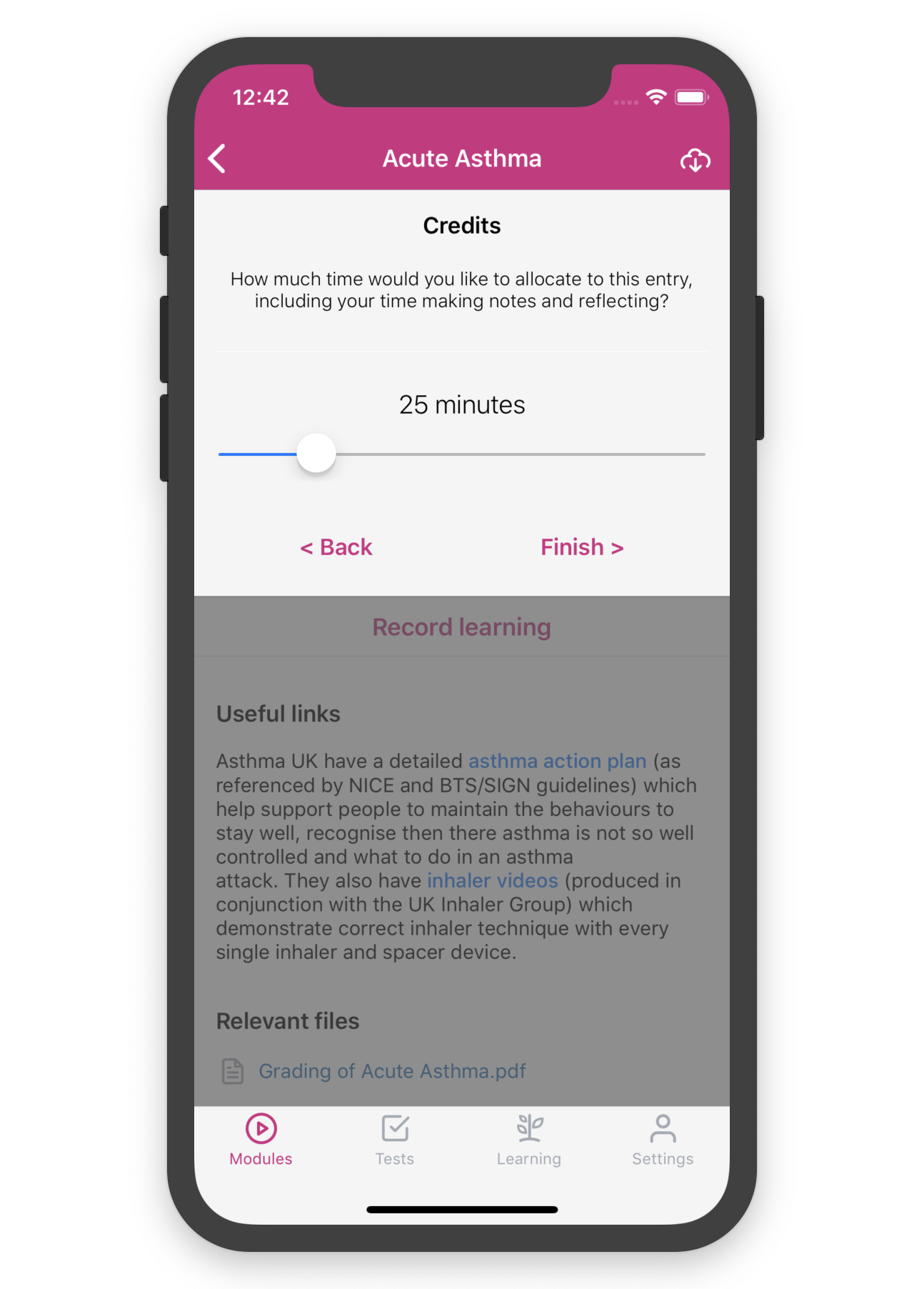 Credits Library app