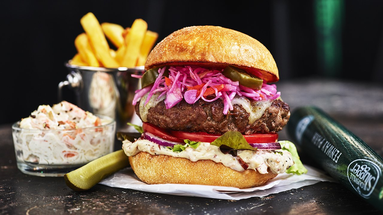 burger station onsala meny