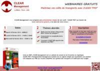 LES WEBINAIRES GRATUITS DE CLEAR MANAGEMENT SONT DE RETOUR