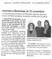 Article Ouest-France du 10/11/2011 : journée du E-Busisness du 15 novembre 2011